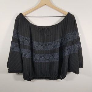 Free People Lace Off Te Shoulder Top Size XS